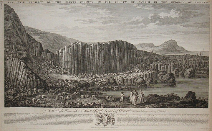A canvas of the Giant's Causeway by Dublin artist Susanna Drury, who received a £25 art premium for her work in 1790 (1)